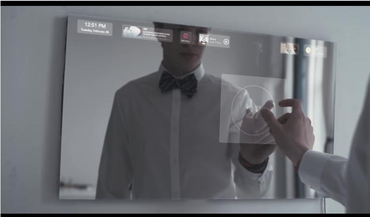 家電を一括操作できるスマートミラー「Duo」。AIアシスタントにも対応