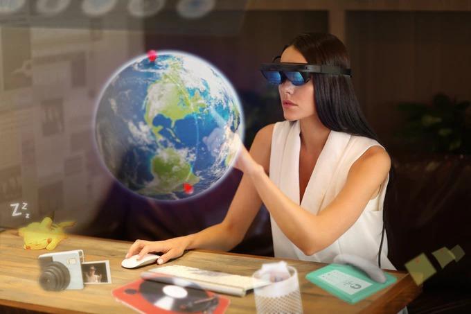 広い視野角で拡張現実を満喫できる小型ARグラス「MIX」。SteamVRにも対応