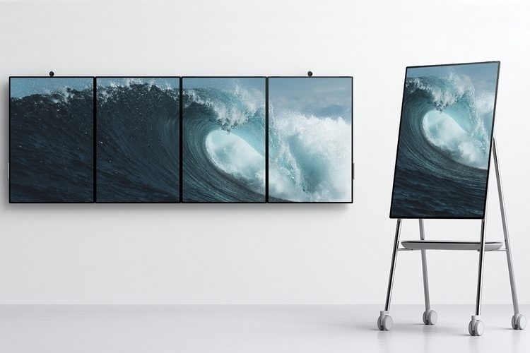 4台まで連結可能!近未来のホワイトボード「Surface Hub 2」