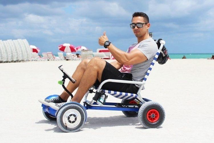 バランススクーターが車椅子に!アウトドアシーンで大活躍する「HoverSeat」