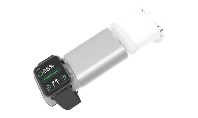 まとめて充電!AirPodsもApple Watchも充電できるモバイルバッテリー「EIRTOUCH」