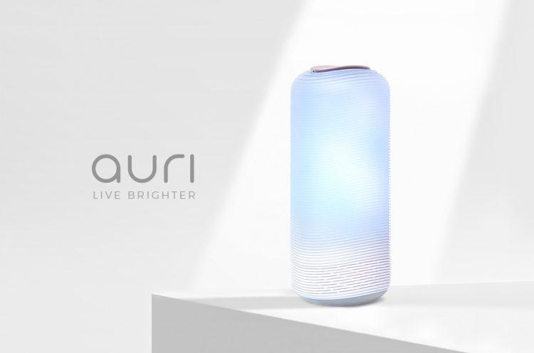リラックスタイムに最適!光と音で癒されるルームライト「Auri」