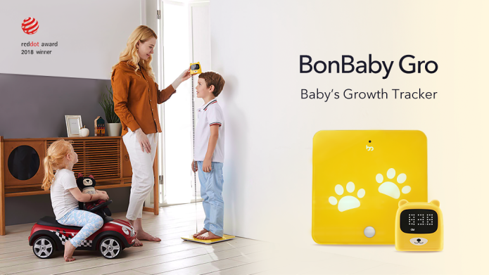 子供の成長を楽しく記録。デジタル身長体重計「BonBaby Gro」