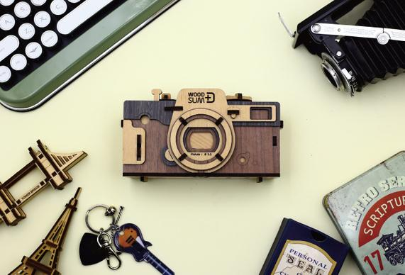 レトロ・手作り感満載!自分で組み立てるピンホールカメラ「WOODSUM」