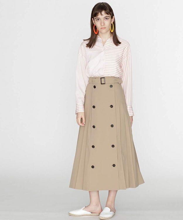 トレンチスカートのおすすめ14選。春・秋に取り入れたい大人かわいいアイテム