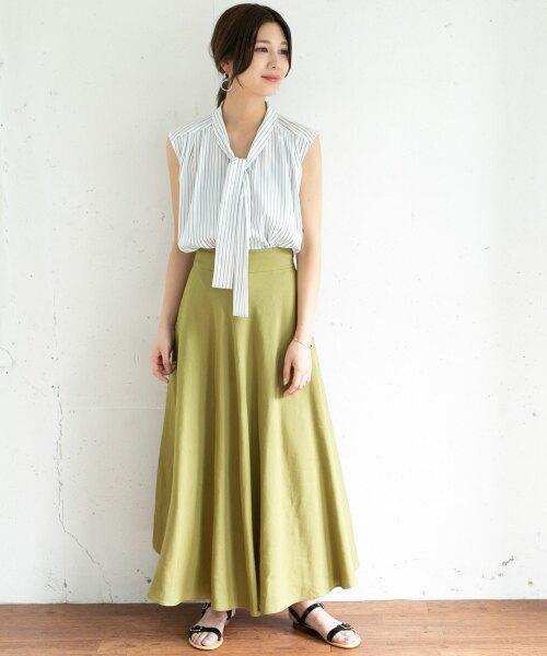 カーキスカートのおすすめ12選。着まわしやすさで選ぶならこれ!