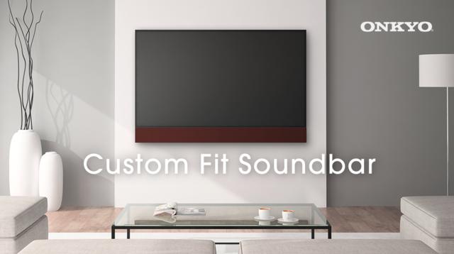 音響メーカーの新提案。家具と調和する壁掛けテレビ専用「カスタムフィットサウンドバー」