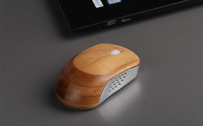 竹×金属で快適に!ワイヤレスマウス「Ice Mouse」