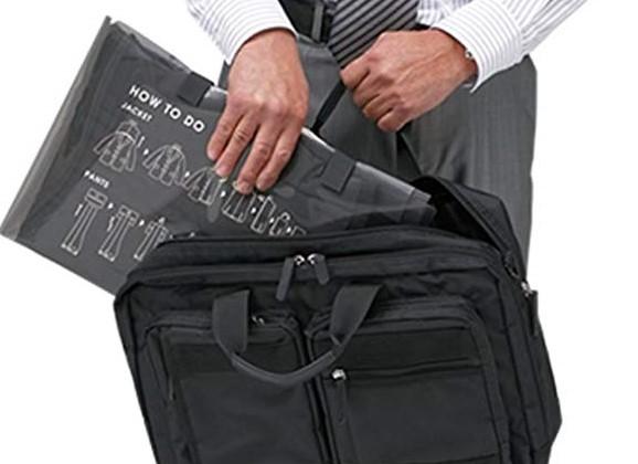 出張時の荷物をコンパクトに。小型シューズケース「KUTSUMU」&スーツバッグ「SU-PACK」