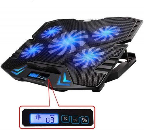 Laptop Cooler Cooling Stand Pad Fan Mat External 7-17inch Notebook USB w//5 Fans