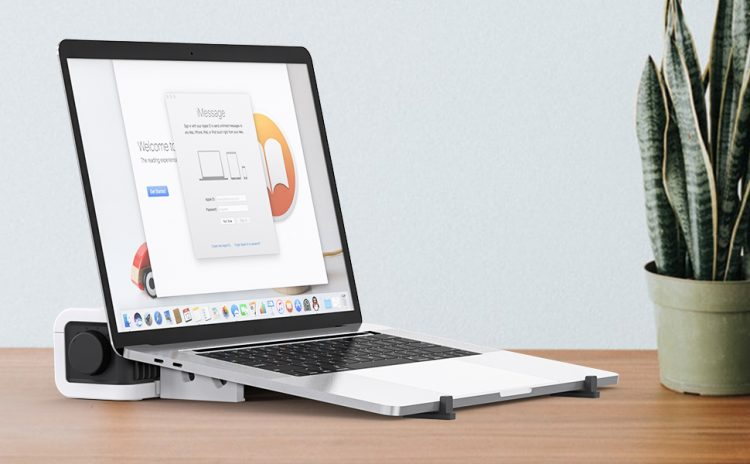 ノートパソコンスタンドのイメージ