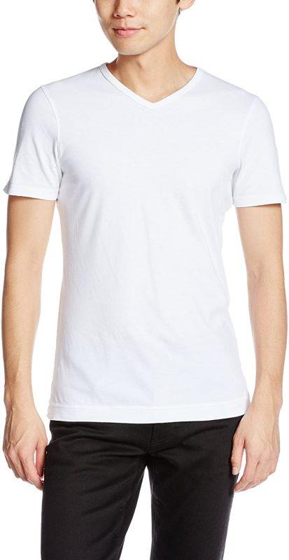 スリードッツ(THREE DOTS) サンデッドジャージー ショートスリーブ VネックTシャツ