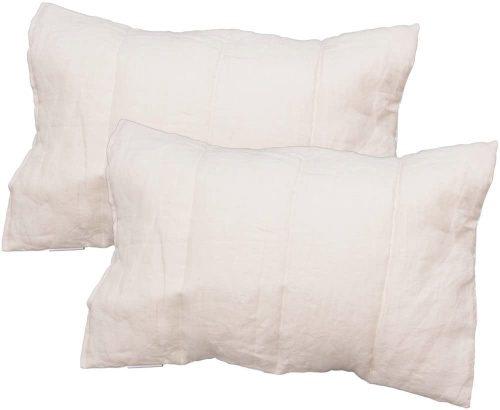 アイリスプラザ 枕カバー 2枚セット 天然素材 亜麻 フレンチリネン100%