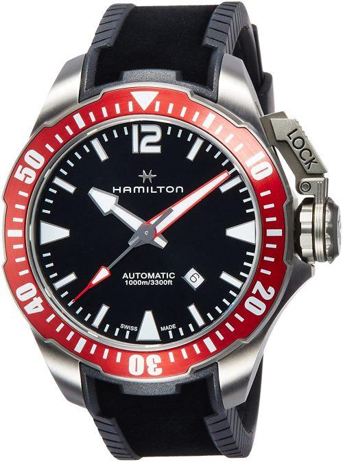 ハミルトン(HAMILTON) カーキ ネイビー OPENWATER AUTO TITANIUM AUTO H77805335