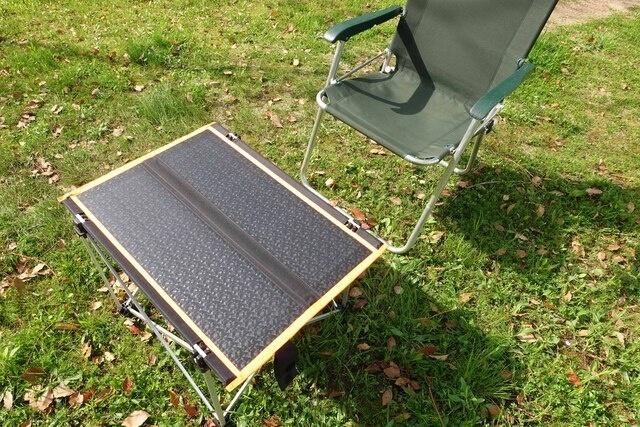 防水ソーラーテーブルを使って新しいアウトドアの形を体感しよう!