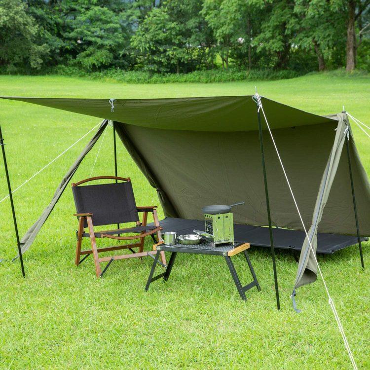 パップテントのおすすめ12選。無骨な軍幕テントで快適なソロキャンプを